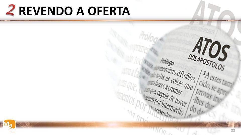 REVENDO A OFERTA A Igreja de ATOS