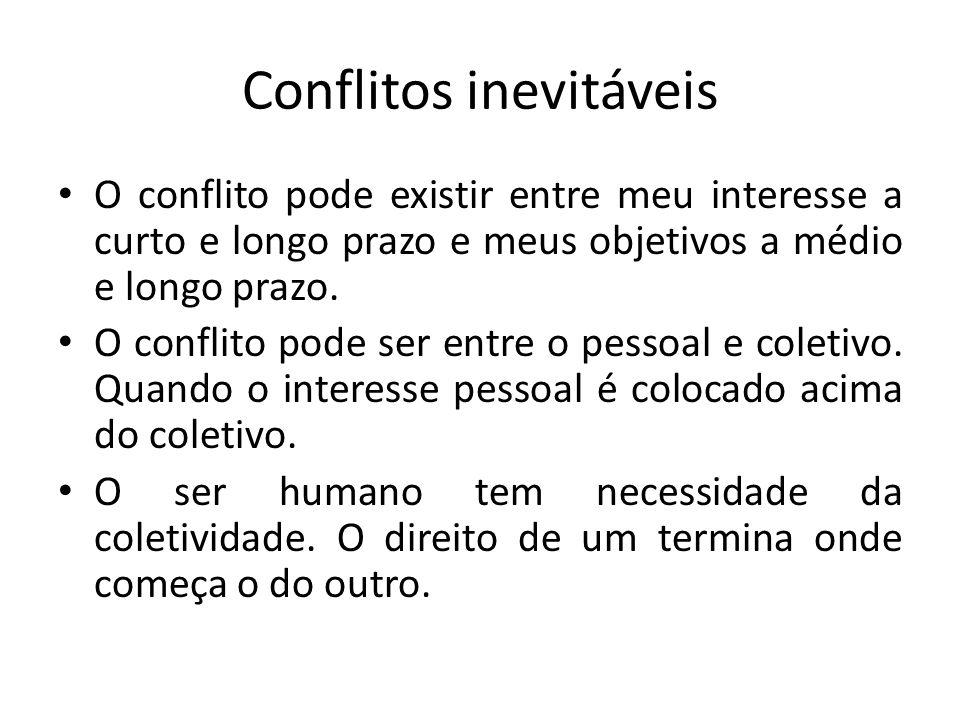 Conflitos inevitáveis