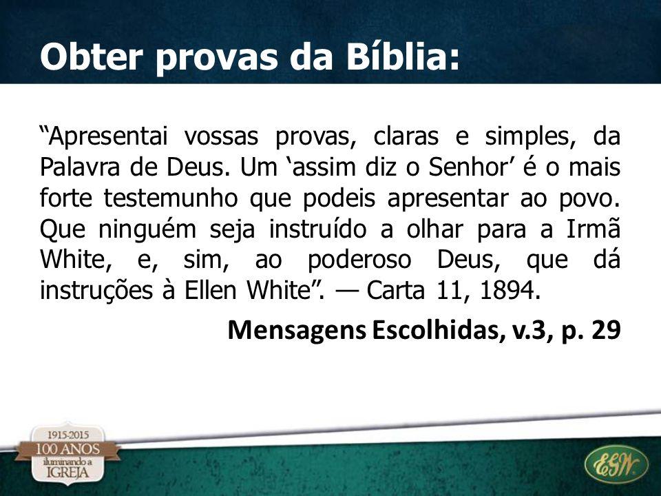 Obter provas da Bíblia: