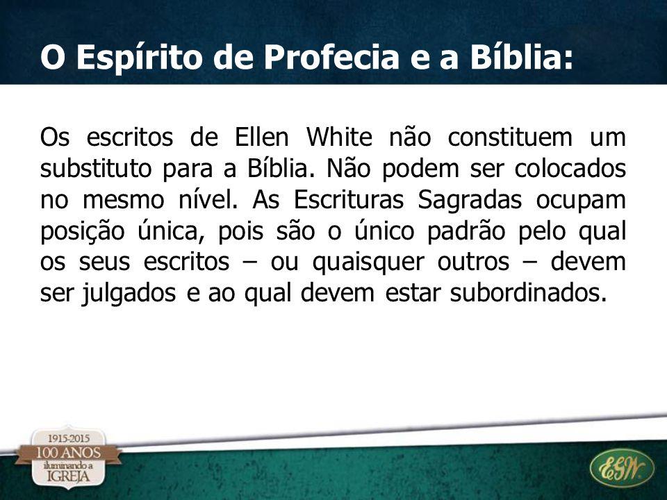 O Espírito de Profecia e a Bíblia: