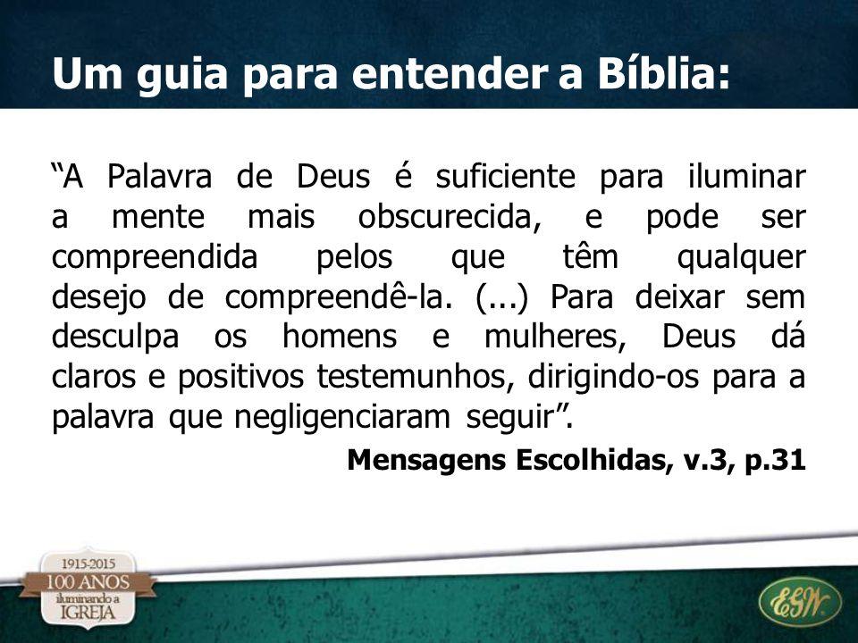 Um guia para entender a Bíblia: