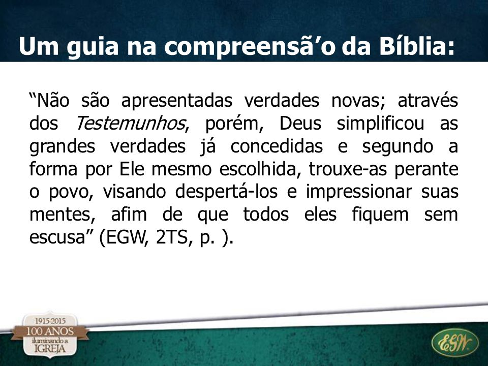 Um guia na compreensã'o da Bíblia: