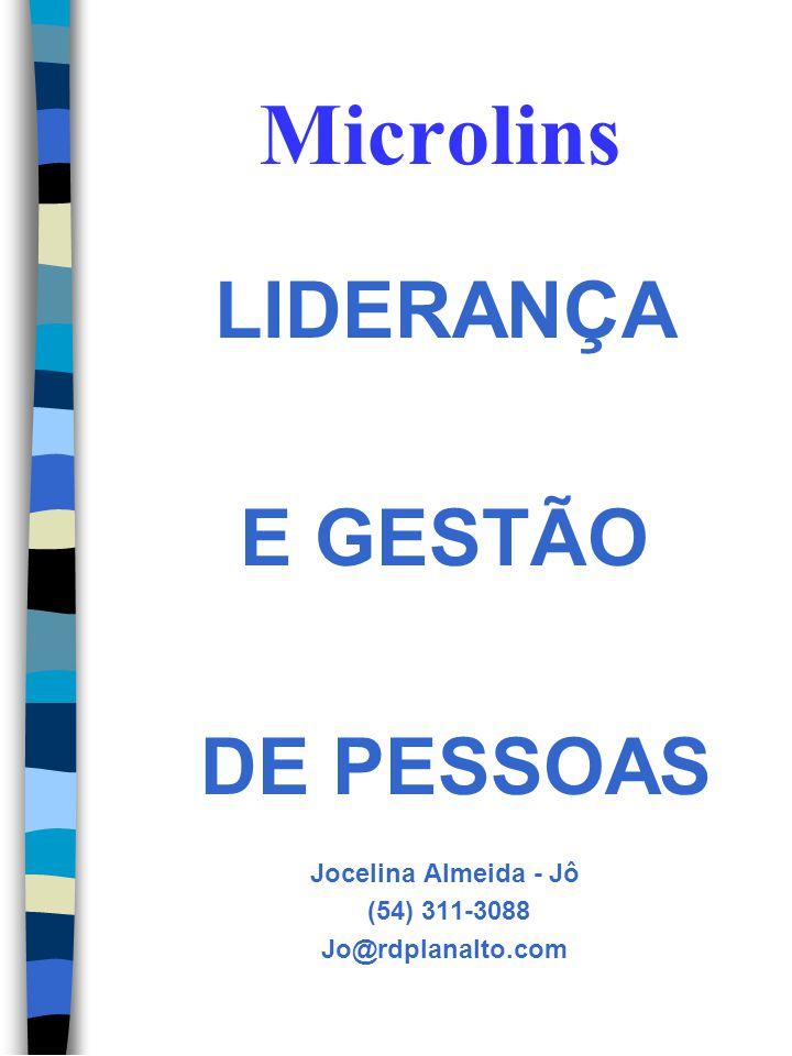Microlins LIDERANÇA E GESTÃO DE PESSOAS Jocelina Almeida - Jô