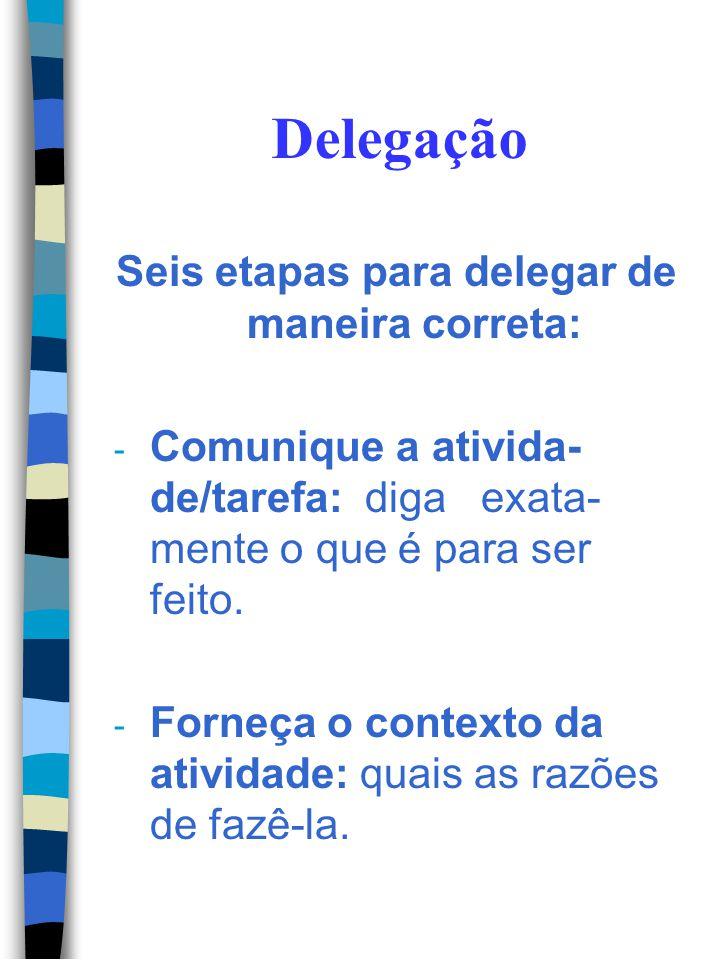 Seis etapas para delegar de maneira correta: