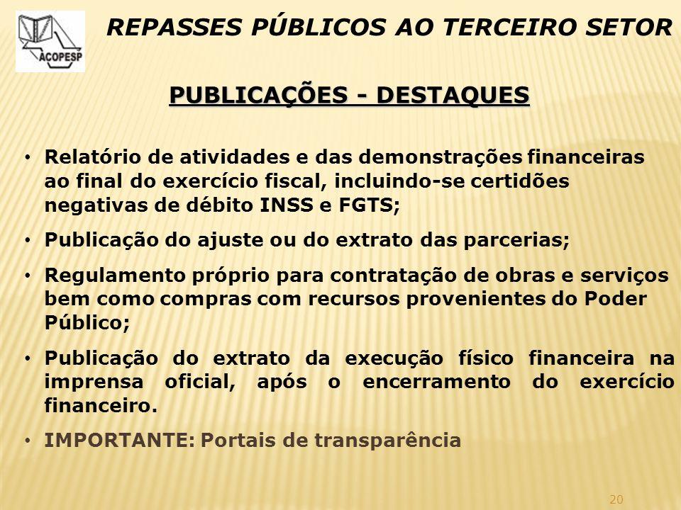 PUBLICAÇÕES - DESTAQUES