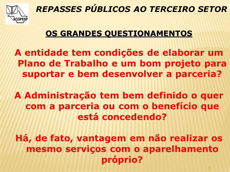 OS GRANDES QUESTIONAMENTOS
