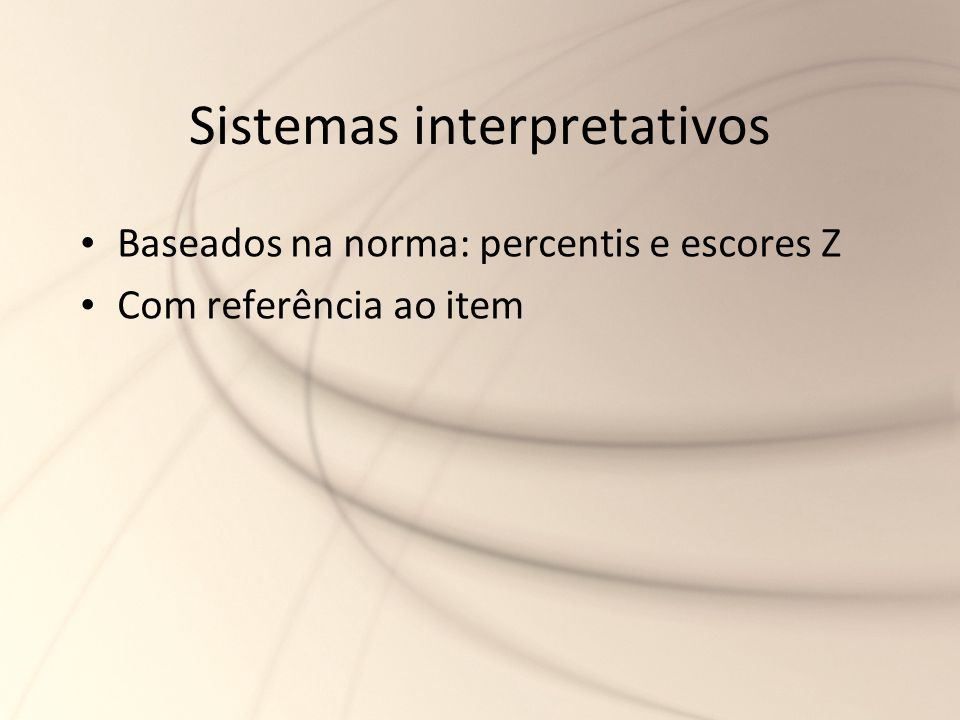 Sistemas interpretativos