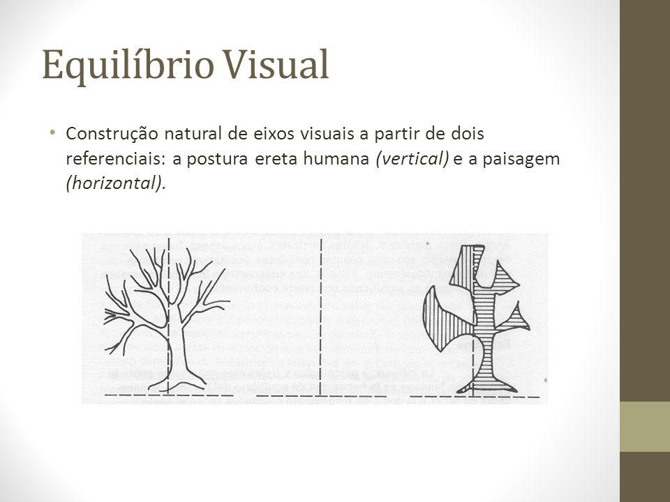 Equilíbrio Visual Construção natural de eixos visuais a partir de dois referenciais: a postura ereta humana (vertical) e a paisagem (horizontal).