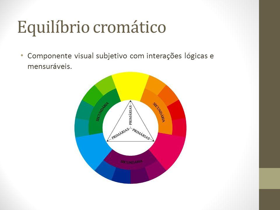 Equilíbrio cromático Componente visual subjetivo com interações lógicas e mensuráveis.