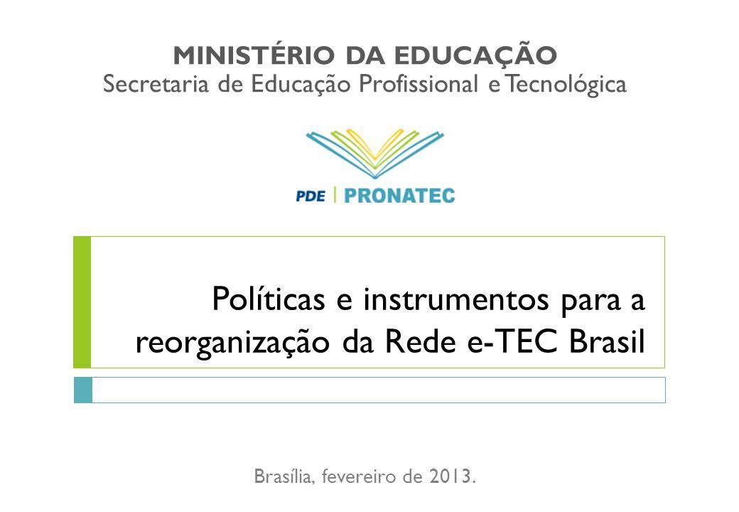 Políticas e instrumentos para a reorganização da Rede e-TEC Brasil