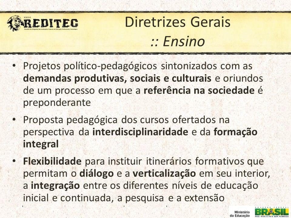 Diretrizes Gerais :: Ensino