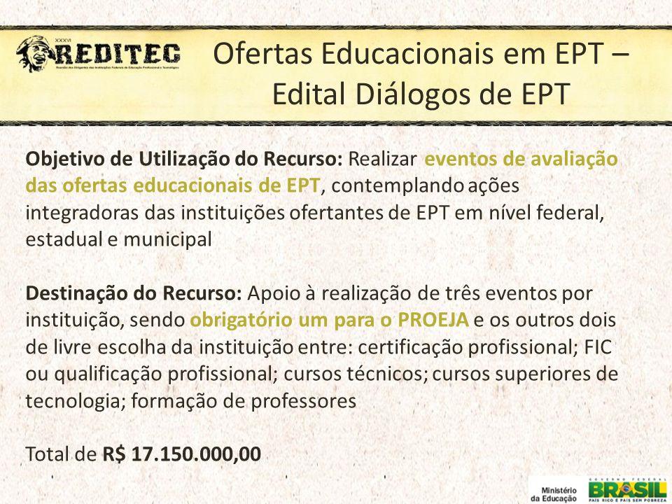 Ofertas Educacionais em EPT – Edital Diálogos de EPT