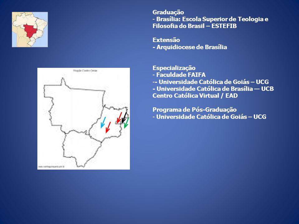 Graduação Brasília: Escola Superior de Teologia e Filosofia do Brasil – ESTEFIB. Extensão. - Arquidiocese de Brasília.
