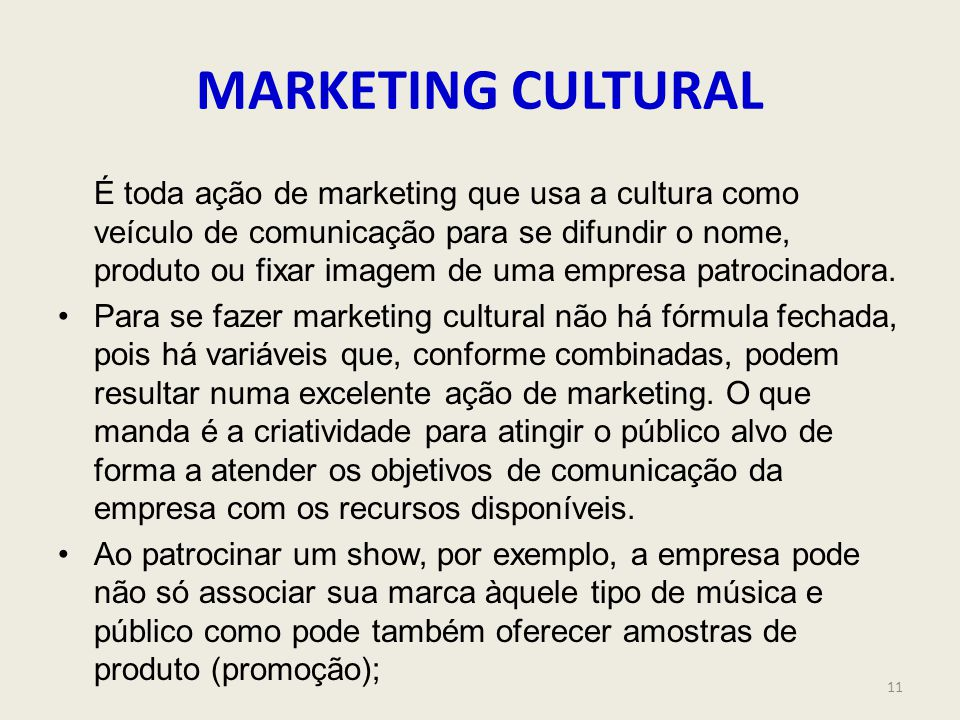 MARKETING CULTURAL