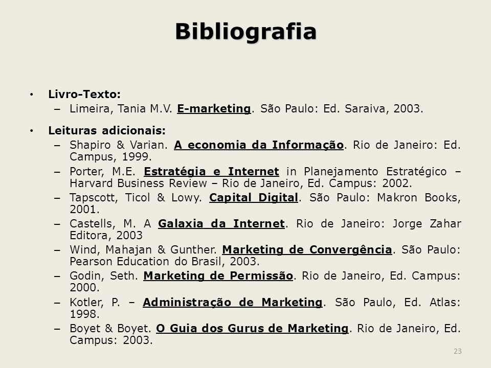 Bibliografia Livro-Texto: