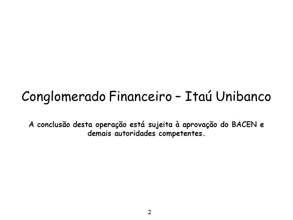Conglomerado Financeiro – Itaú Unibanco