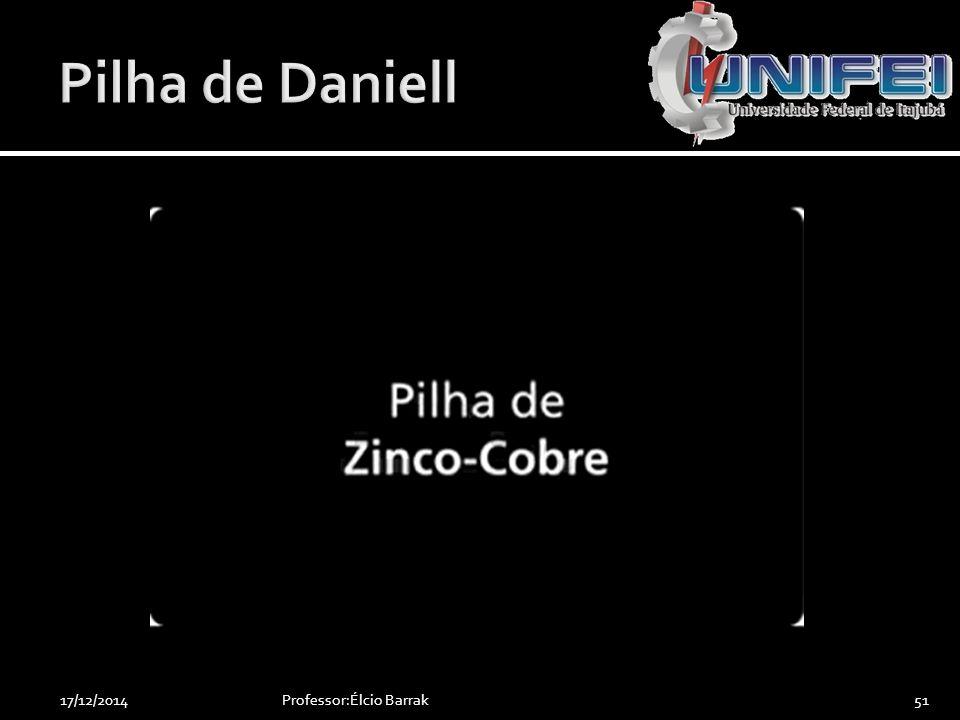 Pilha de Daniell 07/04/2017 Professor:Élcio Barrak