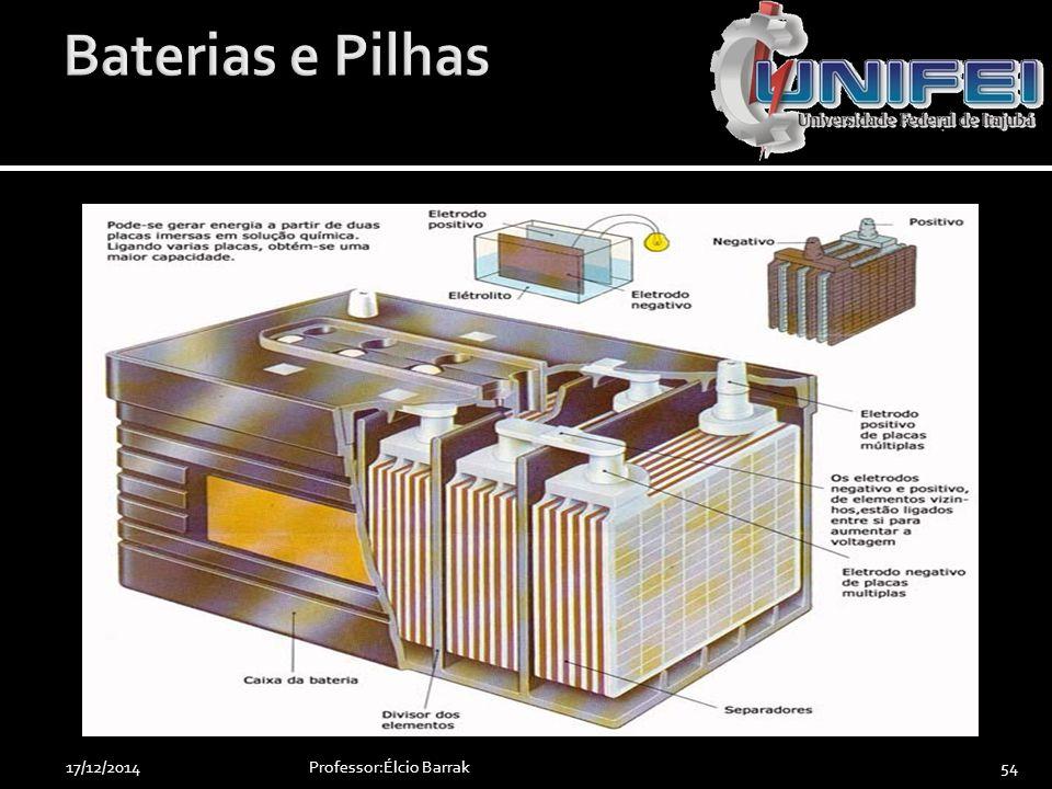 Baterias e Pilhas 07/04/2017 Professor:Élcio Barrak