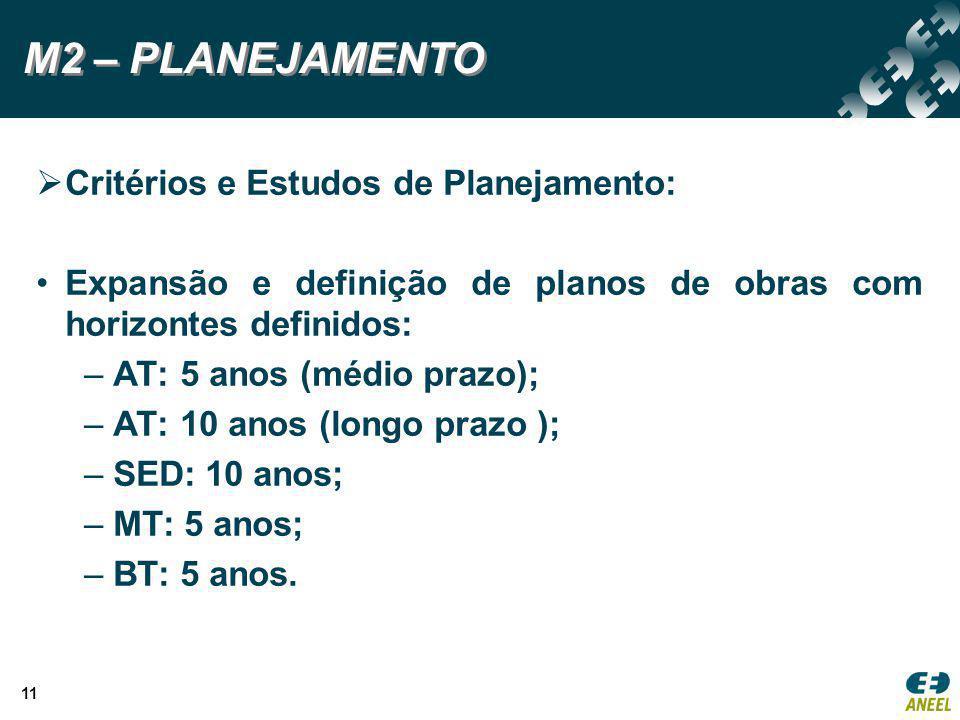 M2 – PLANEJAMENTO Critérios e Estudos de Planejamento: