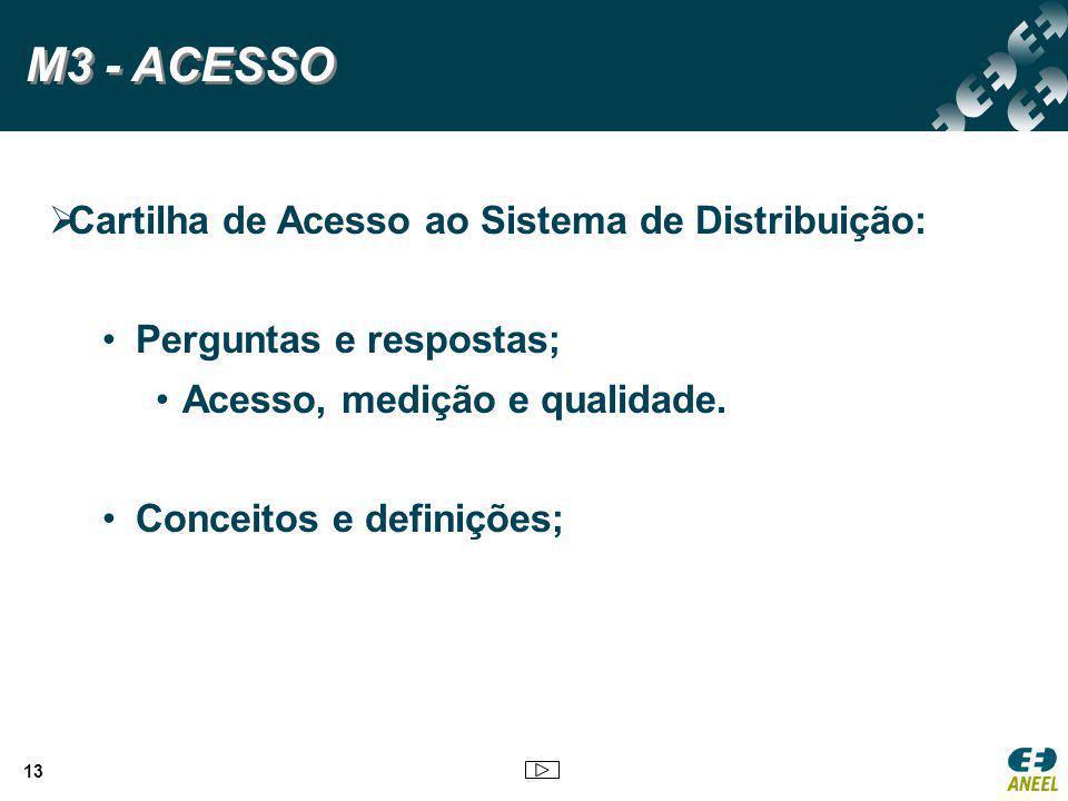 M3 - ACESSO Cartilha de Acesso ao Sistema de Distribuição: