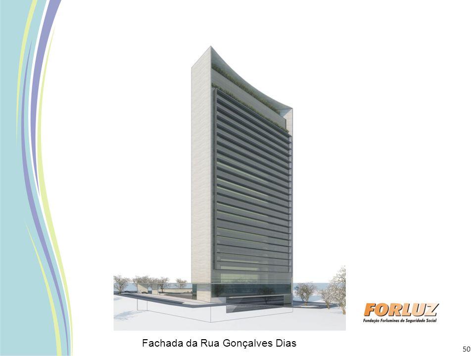 Fachada da Rua Gonçalves Dias