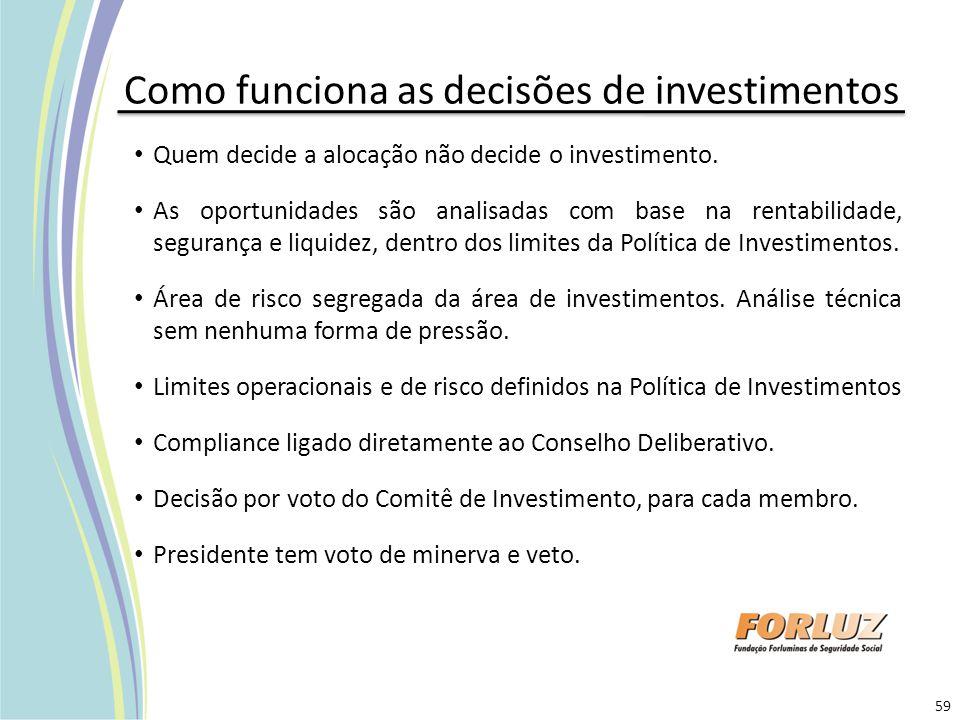 Como funciona as decisões de investimentos