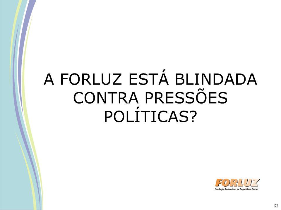 A FORLUZ ESTÁ BLINDADA CONTRA PRESSÕES POLÍTICAS