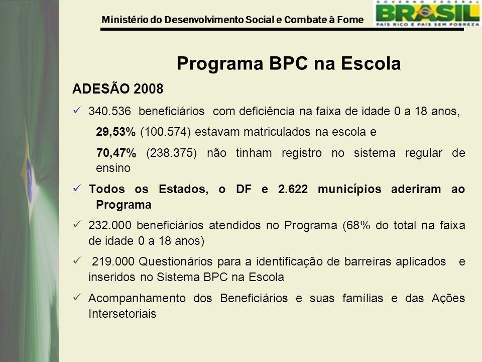 Programa BPC na Escola ADESÃO 2008