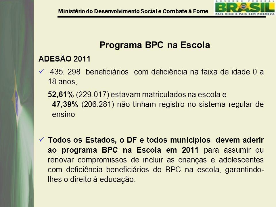 Programa BPC na Escola ADESÃO 2011