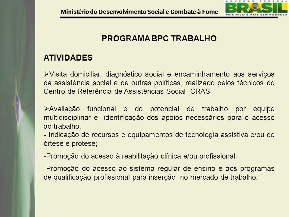 PROGRAMA BPC TRABALHO ATIVIDADES