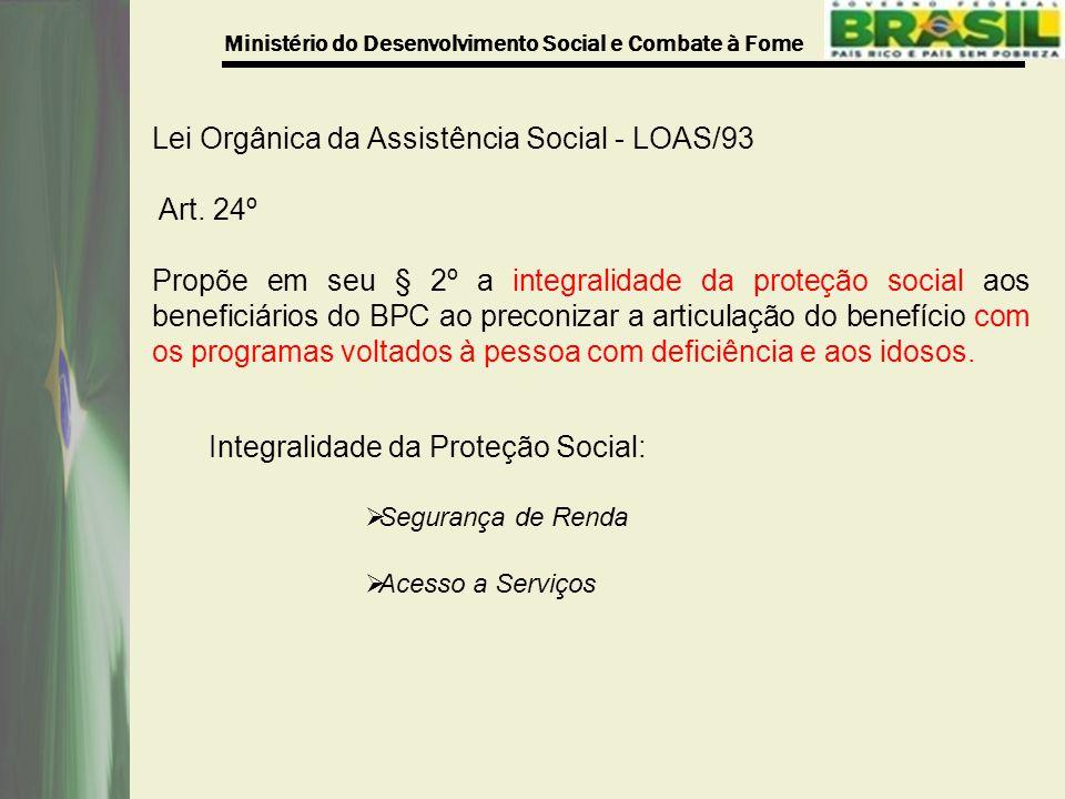 Lei Orgânica da Assistência Social - LOAS/93 Art. 24º