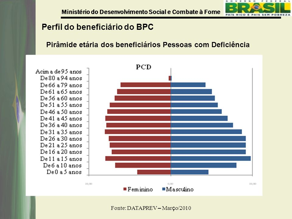 Perfil do beneficiário do BPC