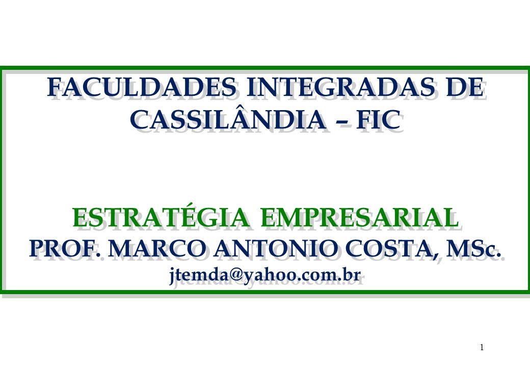 FACULDADES INTEGRADAS DE CASSILÂNDIA – FIC ESTRATÉGIA EMPRESARIAL