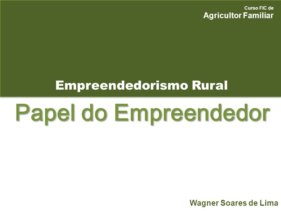 Empreendedorismo Rural