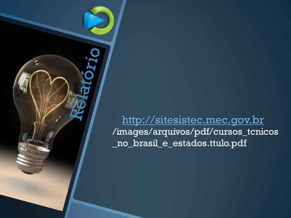 Relatório http://sitesistec.mec.gov.br