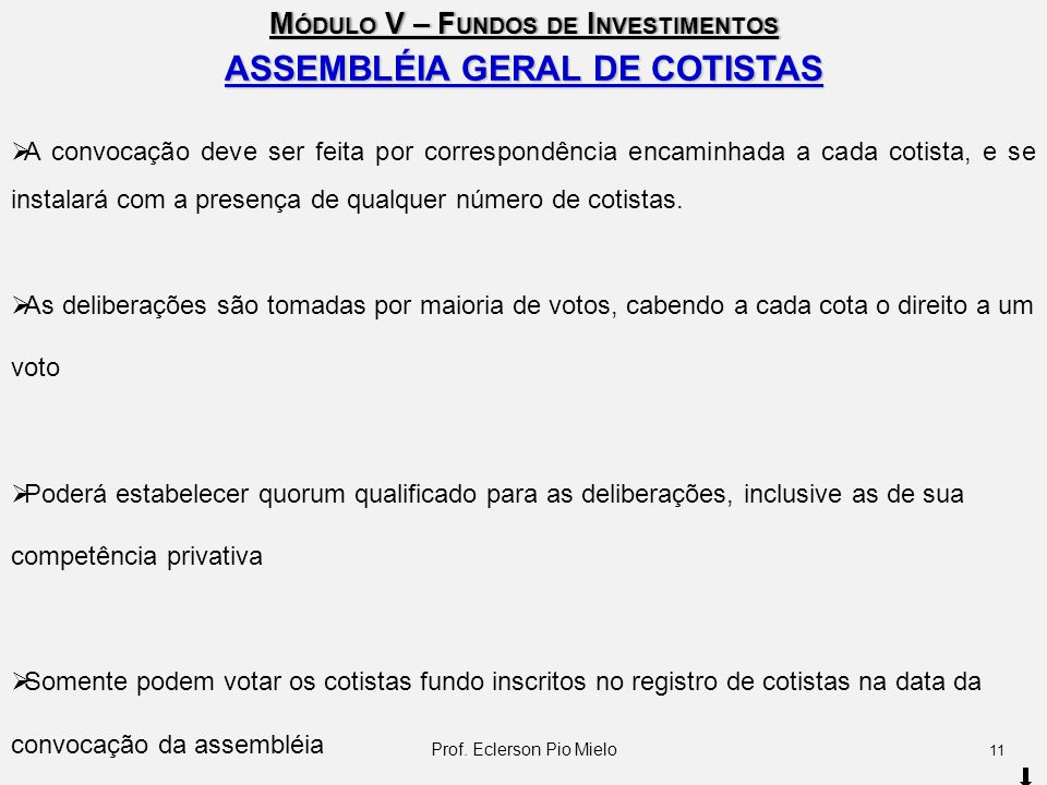 ASSEMBLÉIA GERAL DE COTISTAS