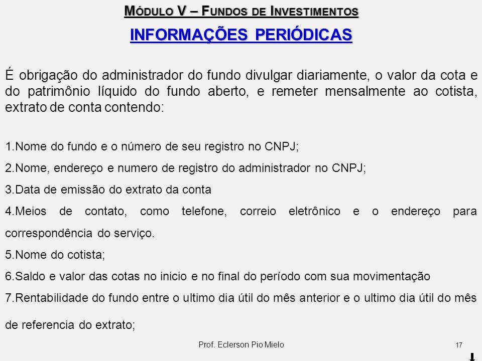 INFORMAÇÕES PERIÓDICAS