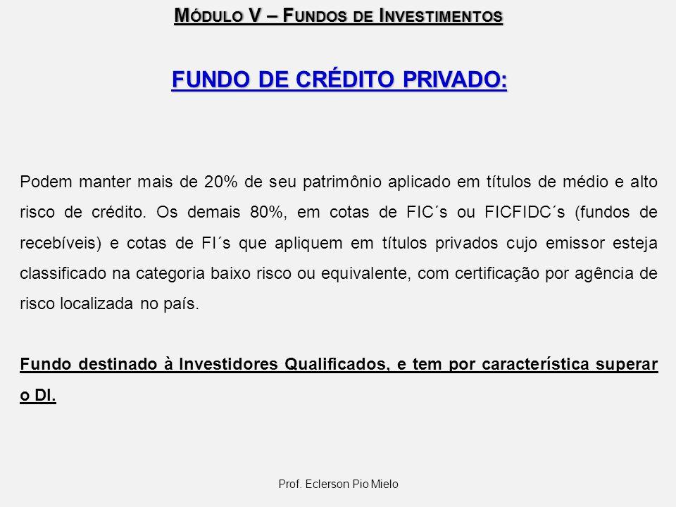 FUNDO DE CRÉDITO PRIVADO: