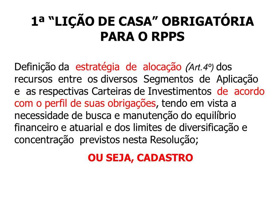 1ª LIÇÃO DE CASA OBRIGATÓRIA PARA O RPPS