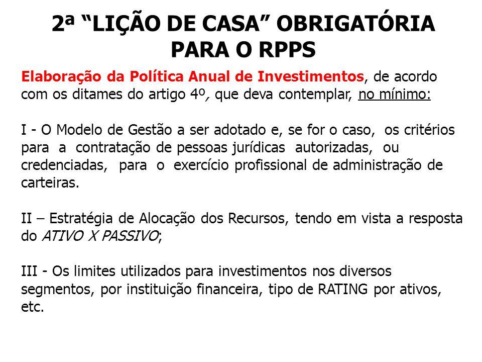 2ª LIÇÃO DE CASA OBRIGATÓRIA PARA O RPPS