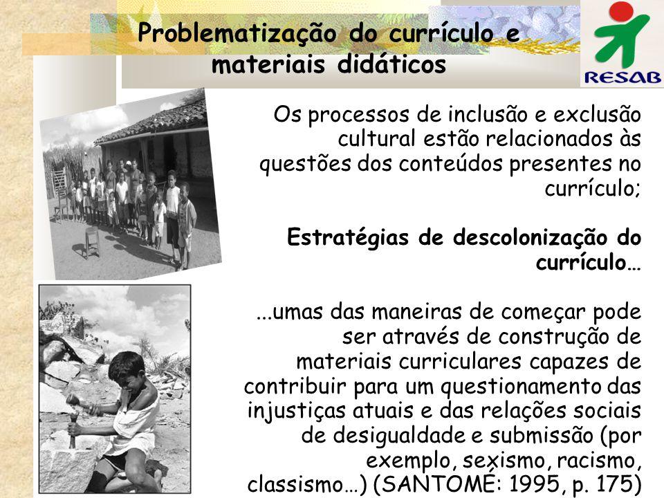 Problematização do currículo e materiais didáticos