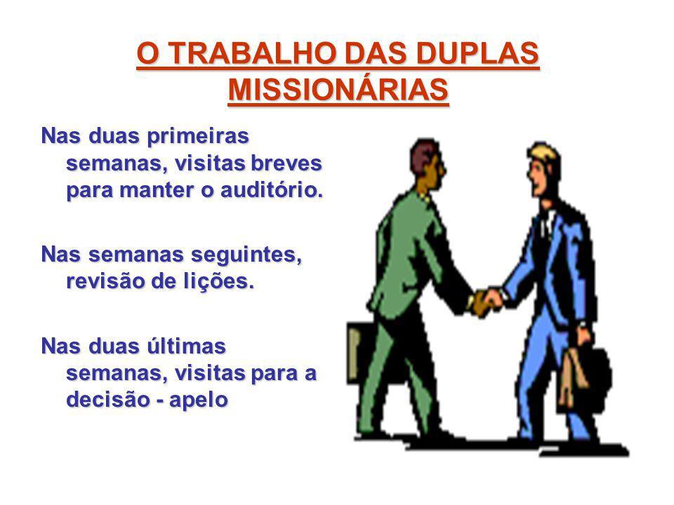 O TRABALHO DAS DUPLAS MISSIONÁRIAS