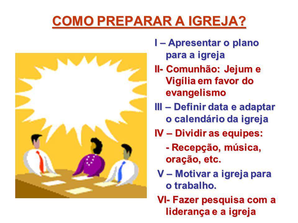 COMO PREPARAR A IGREJA I – Apresentar o plano para a igreja