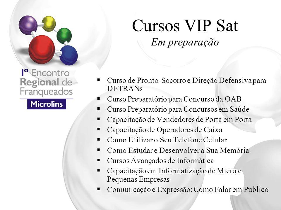 Cursos VIP Sat Em preparação