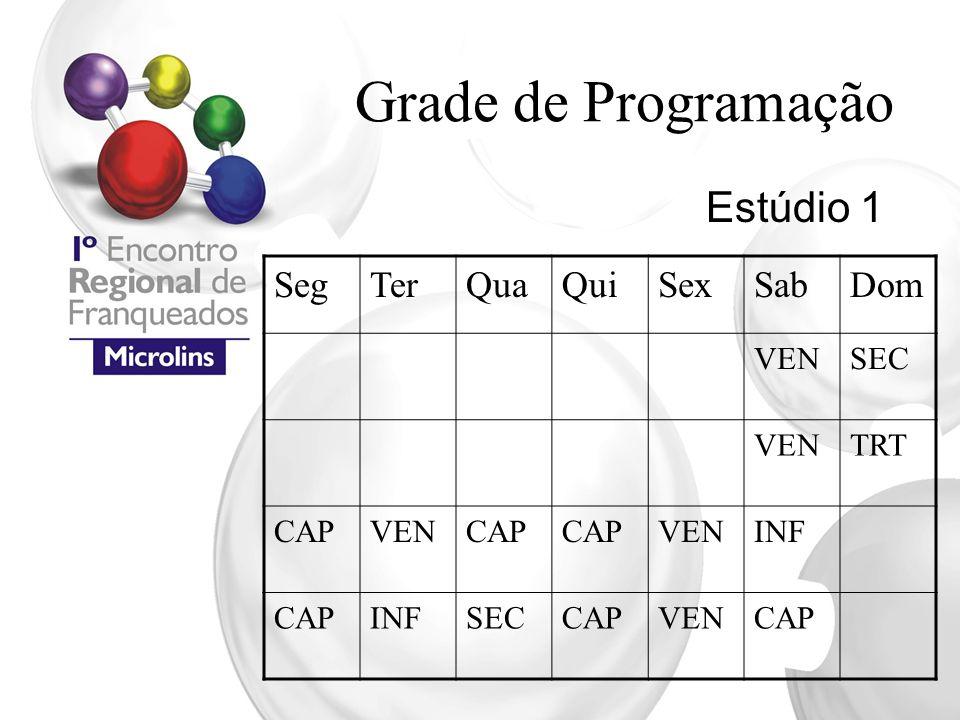 Grade de Programação Estúdio 1 Seg Ter Qua Qui Sex Sab Dom VEN SEC TRT