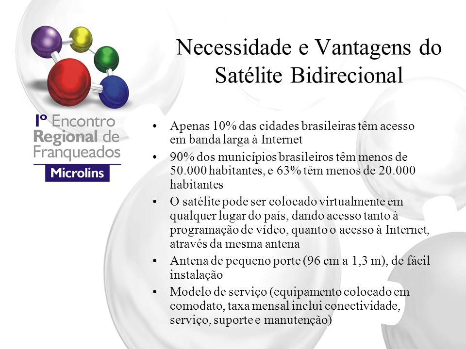 Necessidade e Vantagens do Satélite Bidirecional
