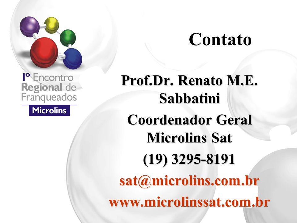 Prof.Dr. Renato M.E. Sabbatini Coordenador Geral Microlins Sat