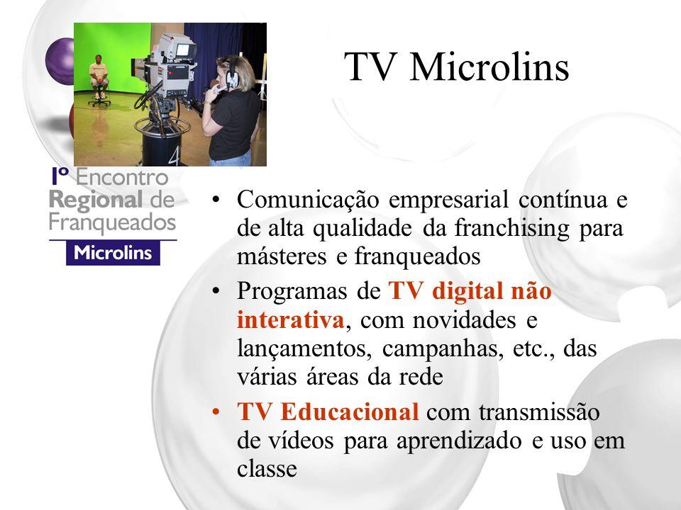 TV Microlins Comunicação empresarial contínua e de alta qualidade da franchising para másteres e franqueados.