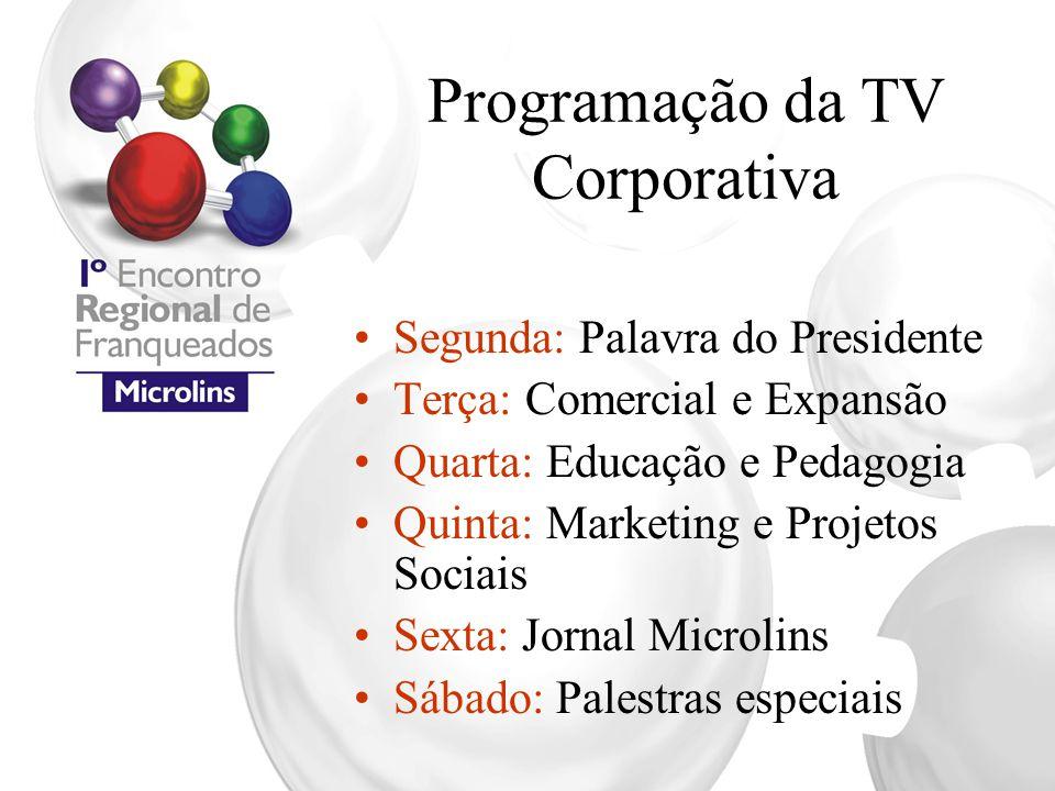 Programação da TV Corporativa