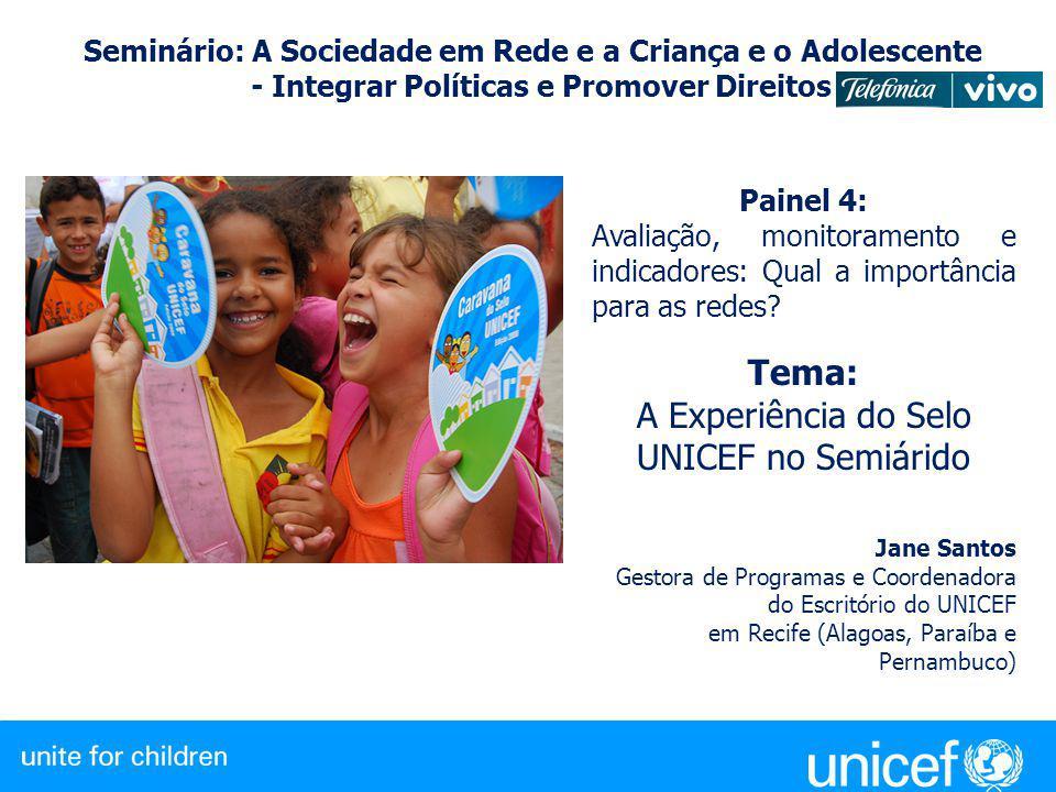 A Experiência do Selo UNICEF no Semiárido